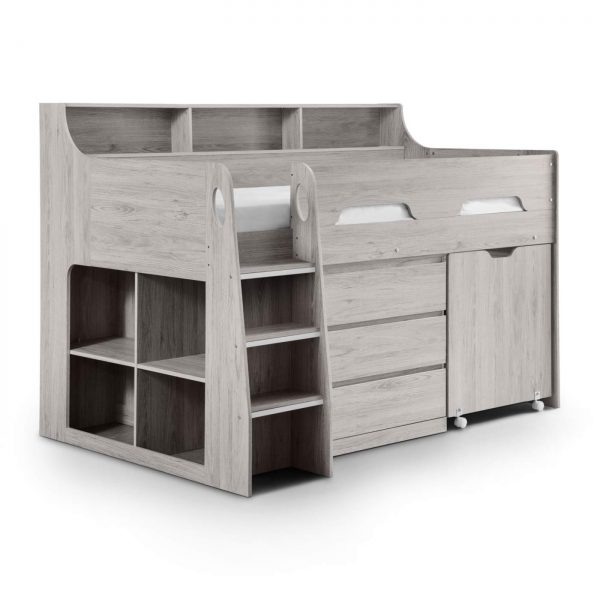 Jupiter Cabin Bed Midsleeper Grey Oak