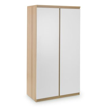 Jupiter Wardrobe Scandinavian Oak & White