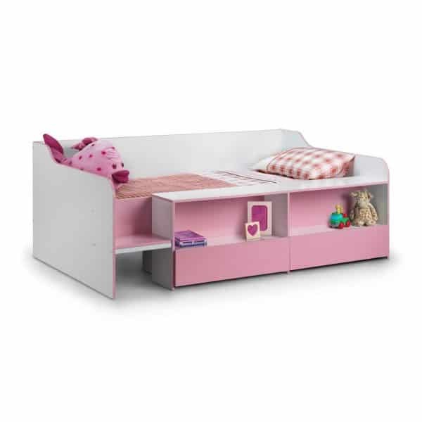 Stella Low Sleeper Cabin Bed Pink