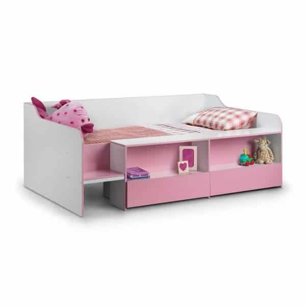 Stella Low Sleeper Cabin Bed Pink