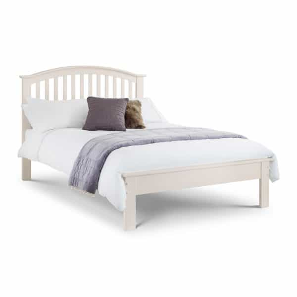 Olivia Double Bed Stone White