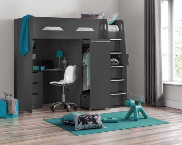Pegasus High Sleeper Cabin Bed in Anthracite