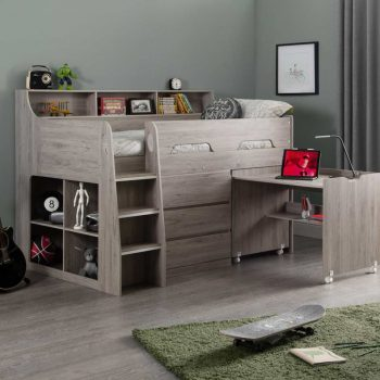 Jupiter Cabin Bed Grey Oak