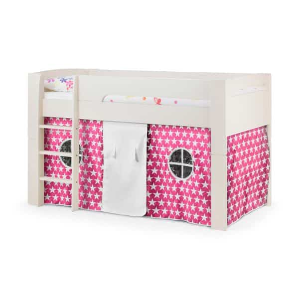 Pluto Cabin Bed with Pink Star Tent