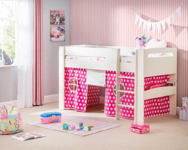 Pluto Cabin Bed with Pink Tent