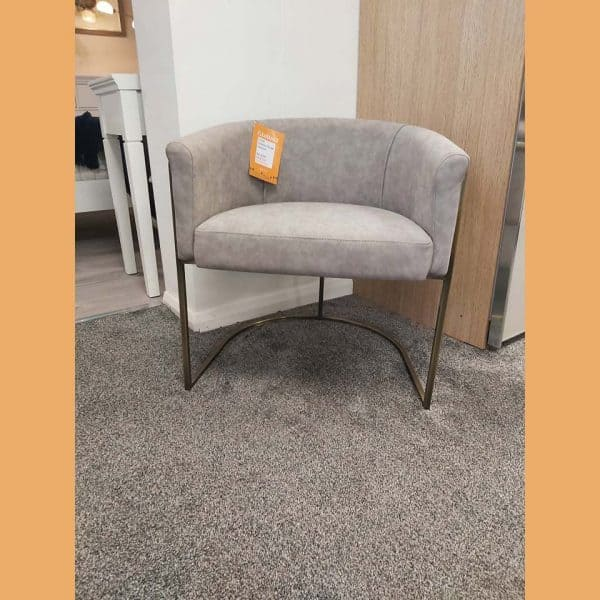 Vintage Leather Effect Armchair