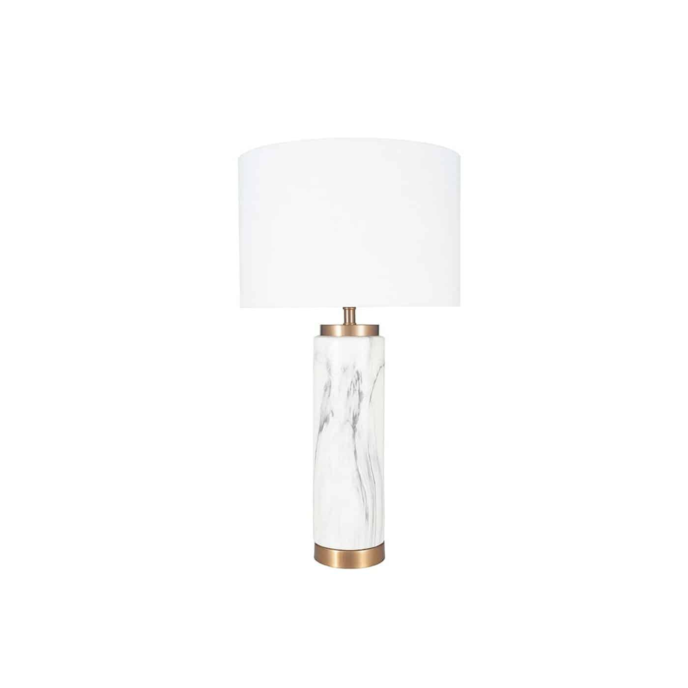Marble Effect Tall Table Lamp