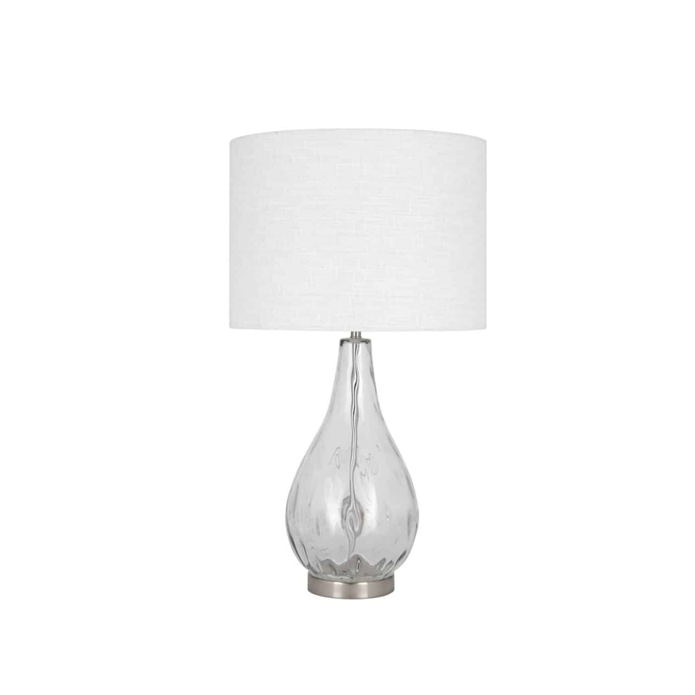 Picture of: Clear Glass Table Lamp Lifestyle Furniture
