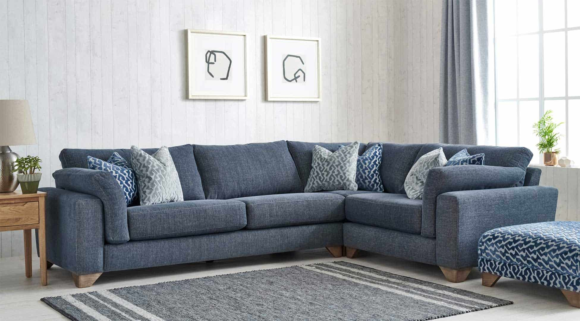 A sumptuous sofa range, with deep lounging insatiable comfort.