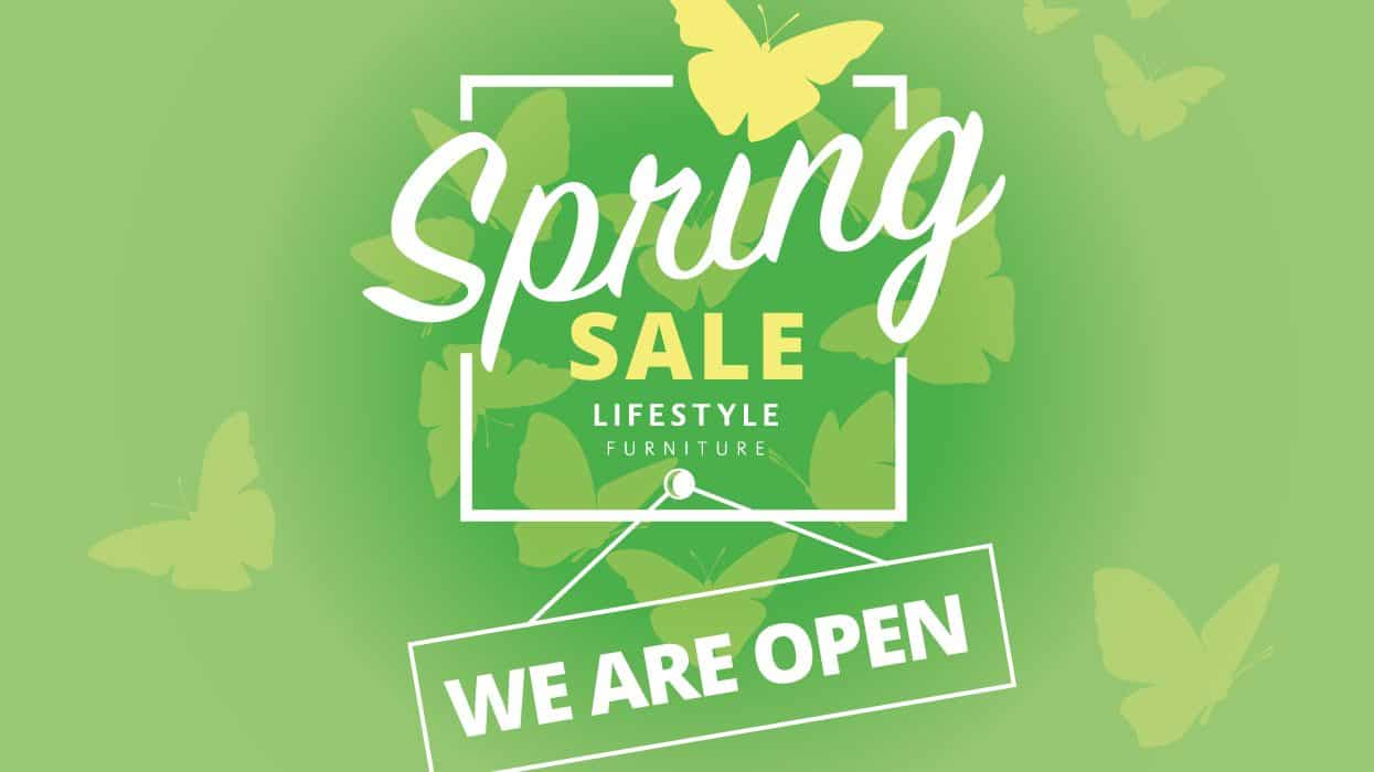 Lifestyle Furniture - Spring Sale - We are open