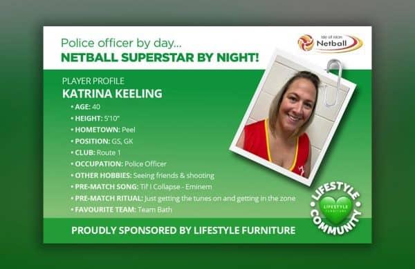 Lifestyle Furniture - Proud to sponsor Katrina Keeling and Isle of Man Netball